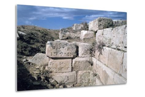 Cuneiform Inscriptions on Stones, Ruined Aqueduct, Jerwan, Iraq, 1977-Vivienne Sharp-Metal Print