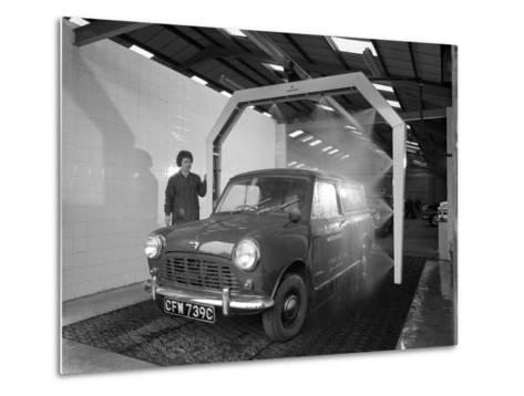 Mini Van Being Washed in a Car Wash, Co-Op Garage, Scunthorpe, Lincolnshire, 1965-Michael Walters-Metal Print