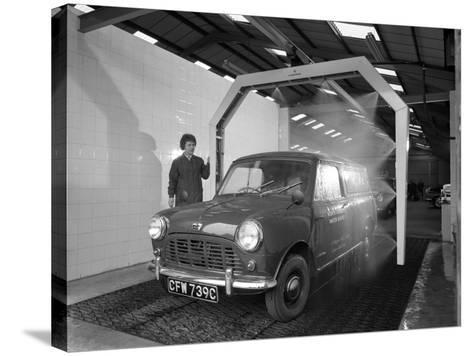 Mini Van Being Washed in a Car Wash, Co-Op Garage, Scunthorpe, Lincolnshire, 1965-Michael Walters-Stretched Canvas Print