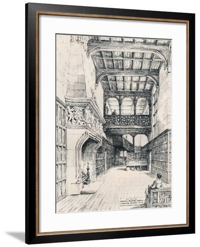 The Hall of North Mymms, Herts, 1898--Framed Art Print