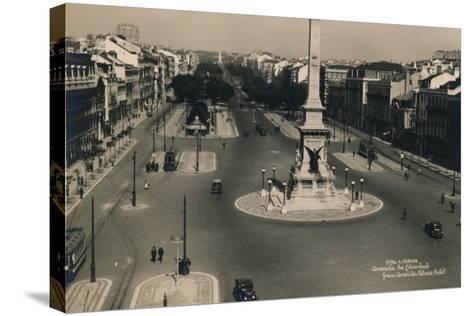 Avenida Da Liberdade, Lisbon, Portugal, C1936--Stretched Canvas Print