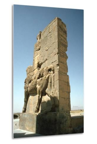 Back View of the Gate of All Nations, Persepolis, Iran-Vivienne Sharp-Metal Print