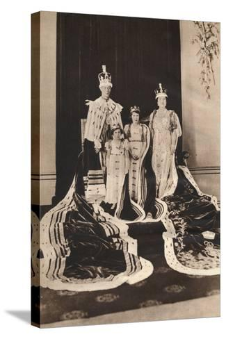 King George Vi and Queen Elizabeth on their Coronation Day, 1937--Stretched Canvas Print
