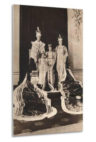 King George Vi and Queen Elizabeth on their Coronation Day, 1937--Metal Print