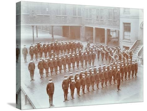Boys on Parade at the Boys Home Industrial School, London, 1900--Stretched Canvas Print
