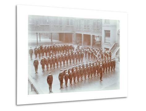 Boys on Parade at the Boys Home Industrial School, London, 1900--Metal Print