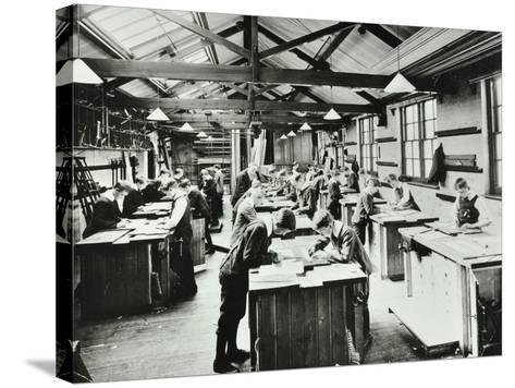 Handicraft Lesson, Hackney Downs School, London, 1911--Stretched Canvas Print