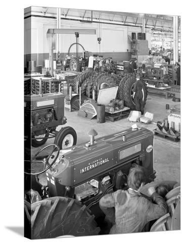 International Harvester Tractor Factory, Doncaster, South Yorkshire, 1966-Michael Walters-Stretched Canvas Print