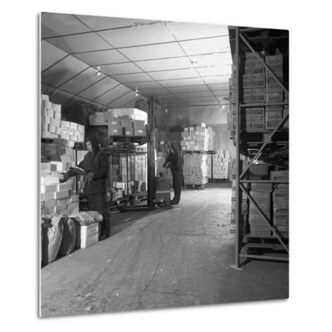 Workers in a Cold Store at Modern Foods, Mexborough, South Yorkshire, 1973-Michael Walters-Metal Print