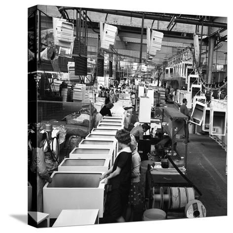 Refrigerators Being Assembled at the Gec in Swinton, South Yorkshire, 1963-Michael Walters-Stretched Canvas Print