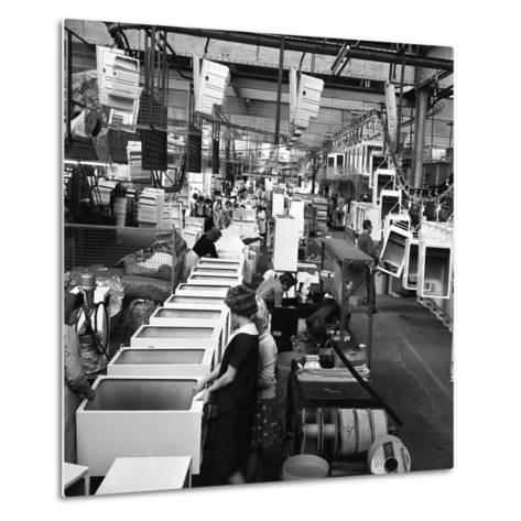 Refrigerators Being Assembled at the Gec in Swinton, South Yorkshire, 1963-Michael Walters-Metal Print