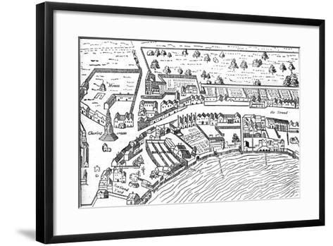 The Strand, 1560-Ralph Aggas-Framed Art Print