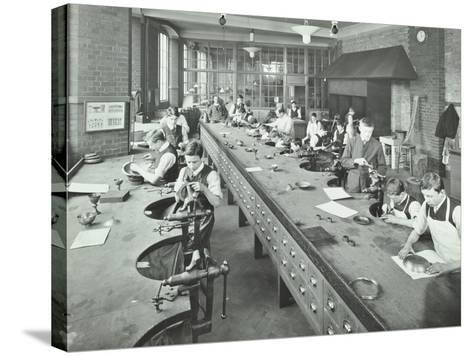 The Silversmiths Room, Central School of Arts and Crafts, Camden, London, 1911--Stretched Canvas Print