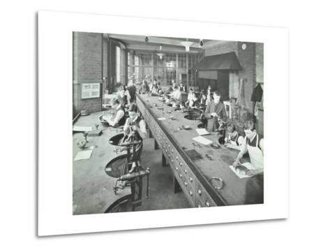 The Silversmiths Room, Central School of Arts and Crafts, Camden, London, 1911--Metal Print