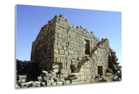 Ruined Building, Umm El-Jimal, Jordan-Vivienne Sharp-Metal Print