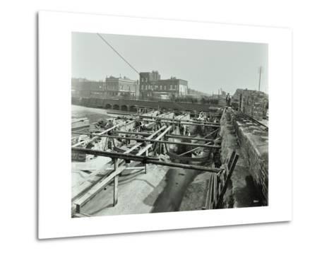 Building the Sewer at Stratford High Street, West Ham, London, 1905--Metal Print