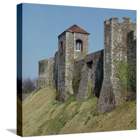 Dover Castle Walls, 12th Century- William the Conqueror-Stretched Canvas Print