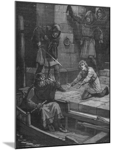 Murder of Prince Arthur, 1203--Mounted Giclee Print