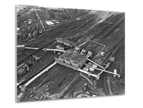 Aerial View of the Manvers Coal Processing Plant, Wath Upon Dearne, South Yorkshire, 1964-Michael Walters-Metal Print