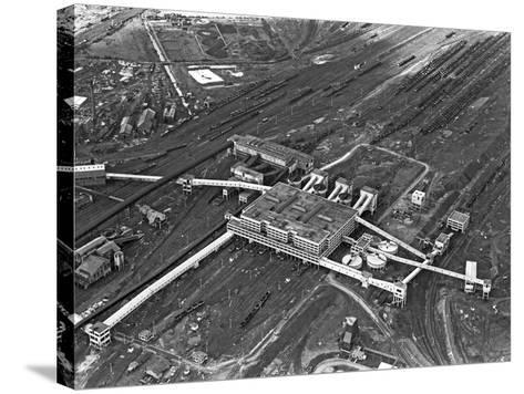 Aerial View of the Manvers Coal Processing Plant, Wath Upon Dearne, South Yorkshire, 1964-Michael Walters-Stretched Canvas Print