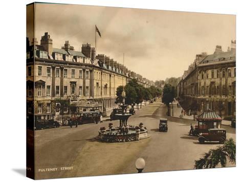 Pulteney Street, Bath, Somerset, C1925--Stretched Canvas Print