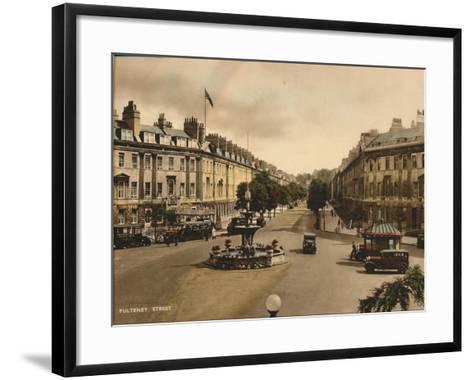 Pulteney Street, Bath, Somerset, C1925--Framed Art Print