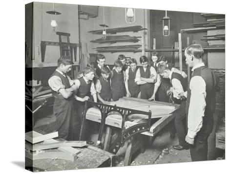 Making Pianos, Benthal Road Evening Institute, London, 1914--Stretched Canvas Print