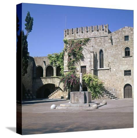 Fountain in the Old Town and Palace of Armeria, 14th Century-Roger de Pins-Stretched Canvas Print
