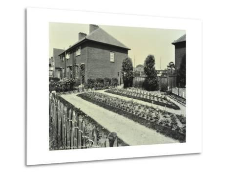 Garden at 187 Valence Wood Road, Becontree Estate, Ilford, London, 1929--Metal Print