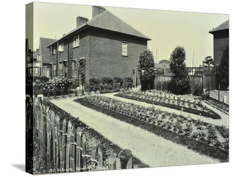 Garden at 187 Valence Wood Road, Becontree Estate, Ilford, London, 1929--Stretched Canvas Print