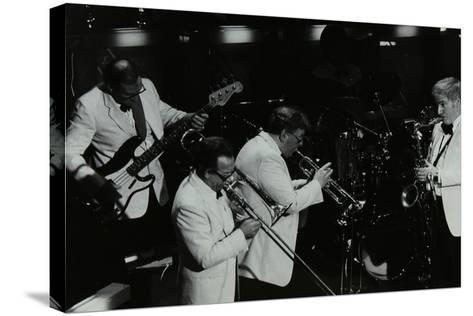 Jazz Group Playing at the Forum Theatre, Hatfield, Hertfordshire, 1984-Denis Williams-Stretched Canvas Print