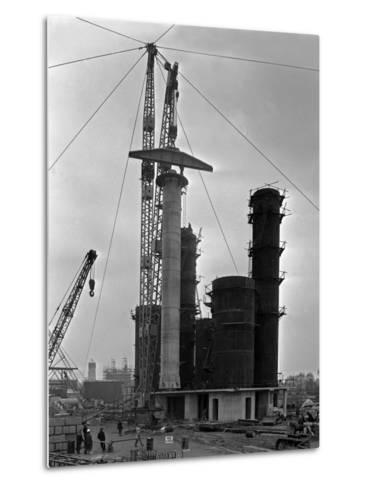 High Pressure Coal Gasification Plant under Construction at Coleshill, West Midlands. 28th May 1-Michael Walters-Metal Print