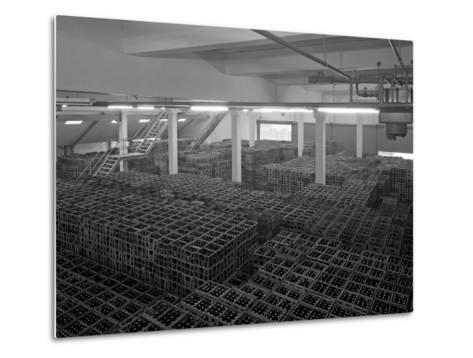 Warehouse Full of Crates of Bottles, Ward and Sons, Swinton, South Yorkshire, 1960-Michael Walters-Metal Print