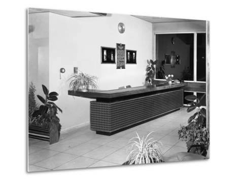 Newly Refurbished Reception, Park Gate Iron and Steel Co, Rotherham, South Yorkshire, 1966-Michael Walters-Metal Print