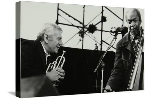 Ruby Braff and Slam Stewart at the Capital Jazz Festival, Alexandra Palace, London, July 1979-Denis Williams-Stretched Canvas Print