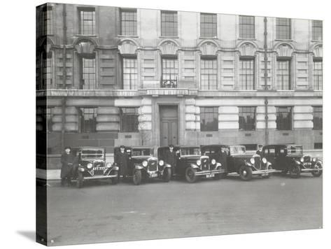 Official London County Council Cars and Chauffeurs, County Hall, London, 1935--Stretched Canvas Print