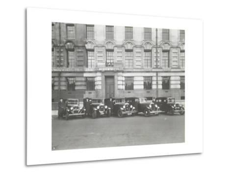 Official London County Council Cars and Chauffeurs, County Hall, London, 1935--Metal Print
