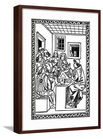 Master with His Students. (Christoforo Landino), 1492, (1917)--Framed Art Print