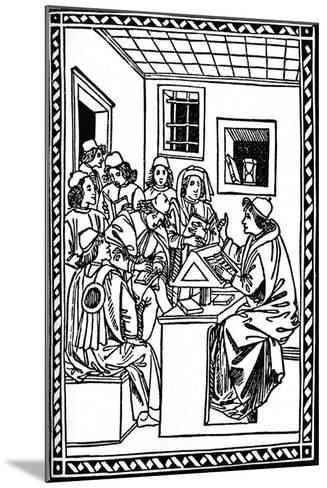 Master with His Students. (Christoforo Landino), 1492, (1917)--Mounted Giclee Print