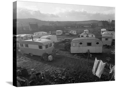 Caravan Site, Mexborough, South Yorkshire, 1961-Michael Walters-Stretched Canvas Print