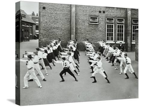 Exercise Drill, Crawford Street School, Camberwell, London, 1906--Stretched Canvas Print