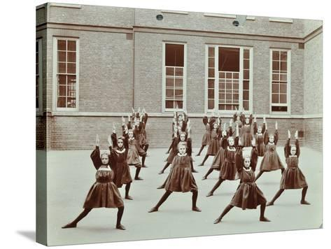 Girls Exercise Drill, Montem Street School, Islington, London, 1906--Stretched Canvas Print