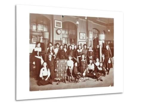 Girls Sports Club Members, Cromer Street School/Argyle School, St Pancras, London, 1906--Metal Print