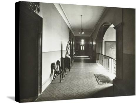 First Floor Corridor, Bethlem Royal Hospital, London, 1926--Stretched Canvas Print