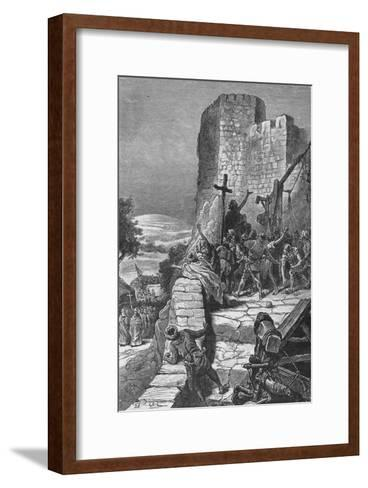 Procession of the Crusaders Round the Walls of Jerusalem, 1099--Framed Art Print