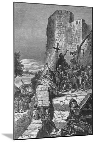Procession of the Crusaders Round the Walls of Jerusalem, 1099--Mounted Giclee Print