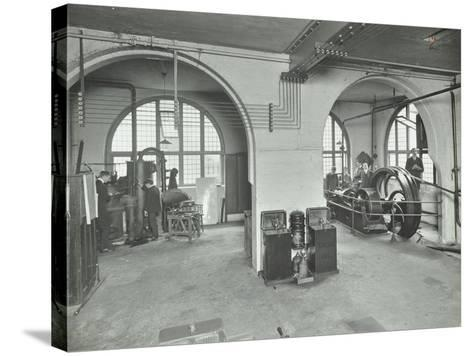 Mechanical Laboratory, Battersea Polytechnic, London, 1912--Stretched Canvas Print