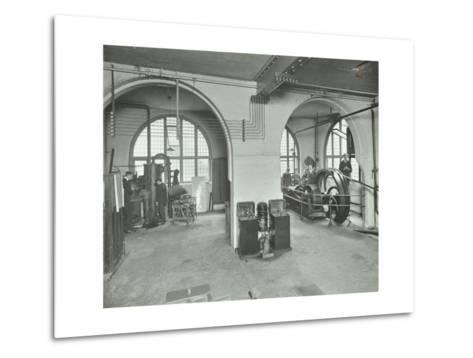 Mechanical Laboratory, Battersea Polytechnic, London, 1912--Metal Print