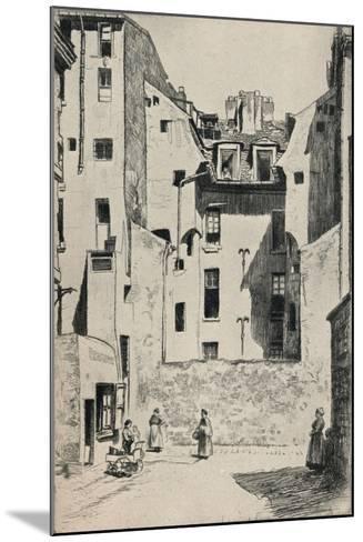 Impasse Du Boeuf, 1915-Otto J Schneider-Mounted Giclee Print