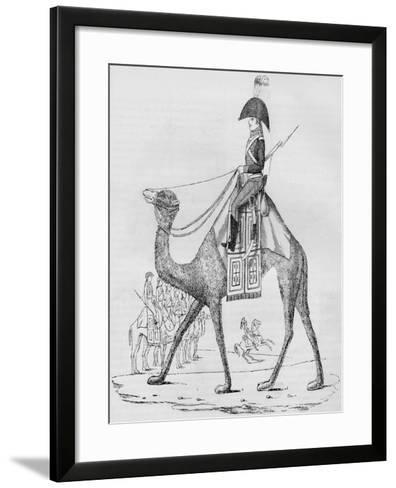 French Domedary Regiment. Captured with a Convoy in the Lybian Desert, May, 1801--Framed Art Print